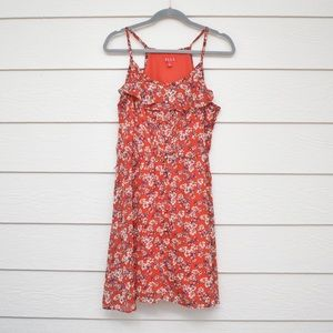 Elle Red Floral Skinny Strap Mini Dress